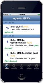 L'église réformée vaudoise mise sur l'application mobile EERV cal pour augmenter sa visibilité sur le net