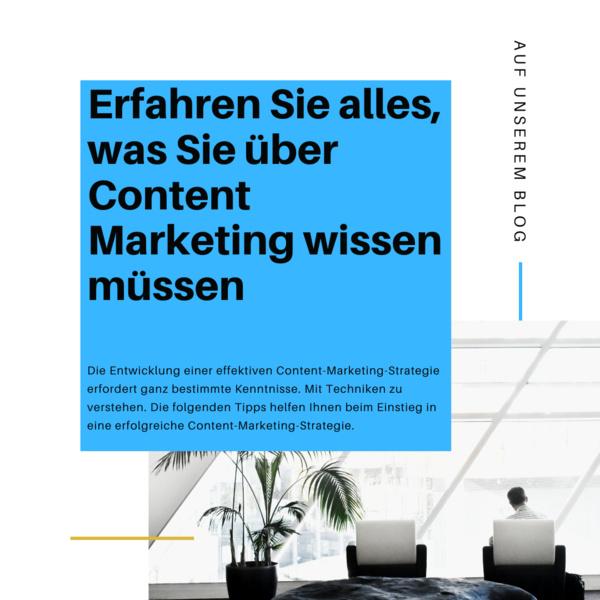 Erfahren Sie alles, was Sie über Content Marketing wissen müssen
