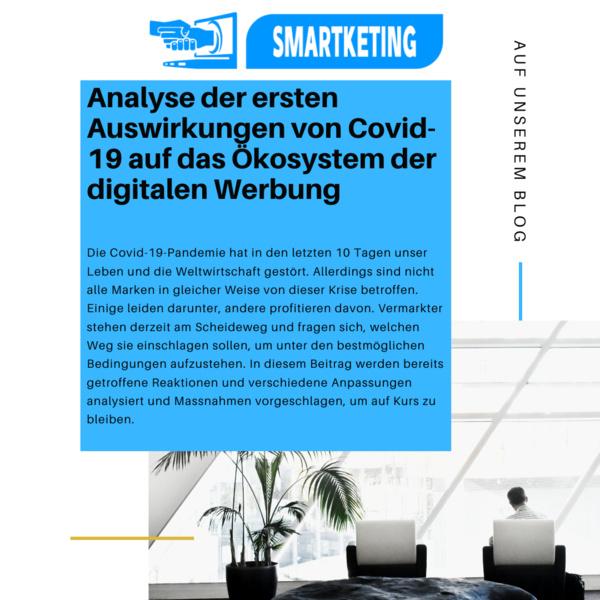 Analyse der ersten Auswirkungen von Covid-19 auf das Ökosystem der digitalen Werbung