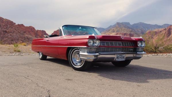 Nehmen Sie an unserem Gewinnspiel teil und gewinnen Sie diesen prächtigen roten 1964er Cadillac