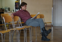 """Thierry Pahud, auteur, metteur en scène et acteur de la pièce """"Weekend d'enfer!"""""""