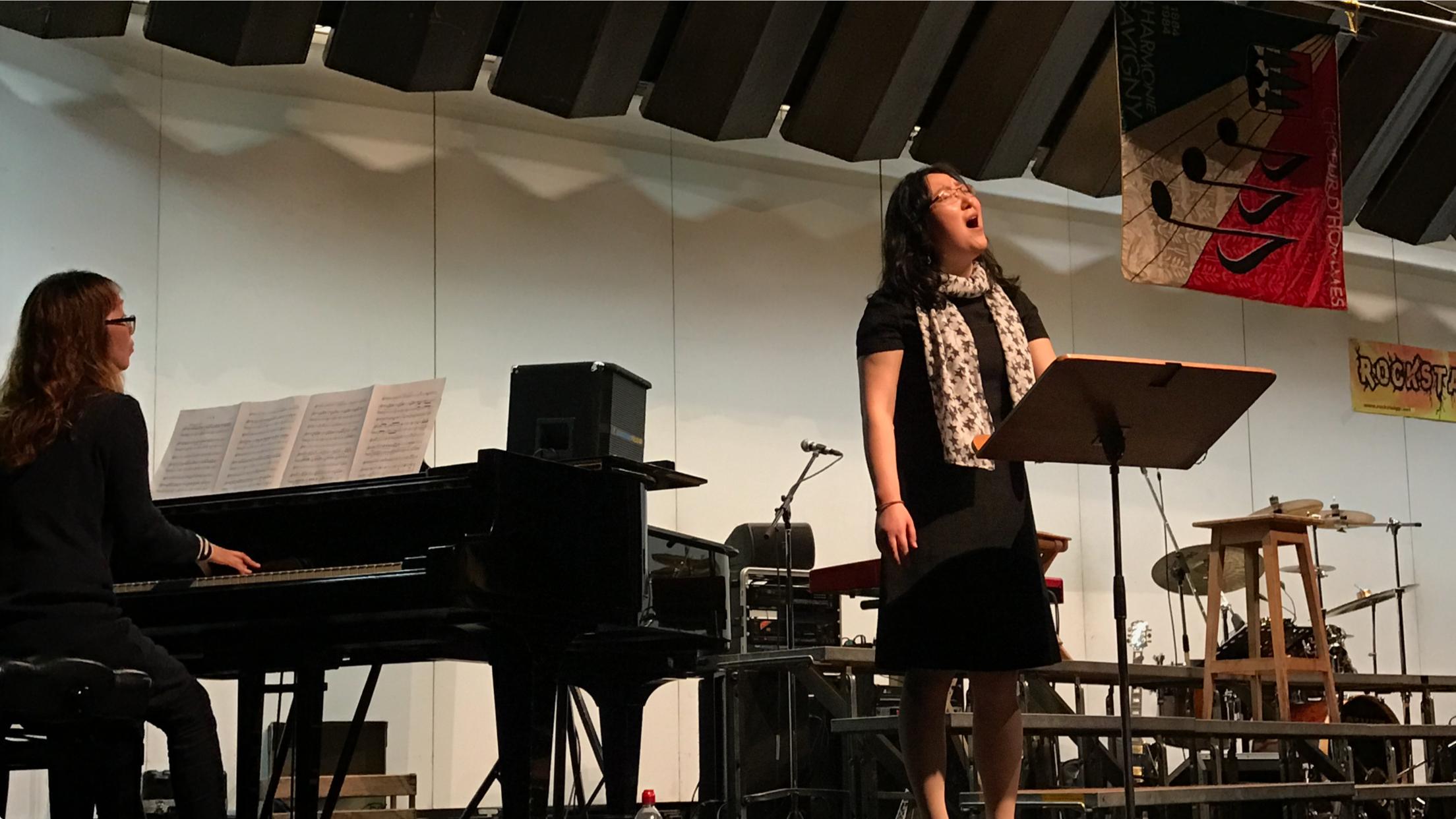 L'intermède musical assuré par la soprane Kwi-Hyun Bin et sa sœur pianiste Kwi-Hee Kauffmann-Bin