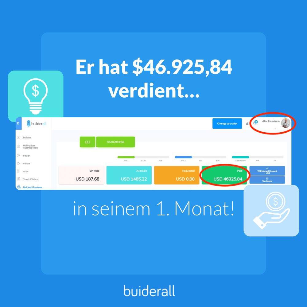 Mein 4. Tag Erfahrung mit der online marketing Platform myBuilderall4you.ch