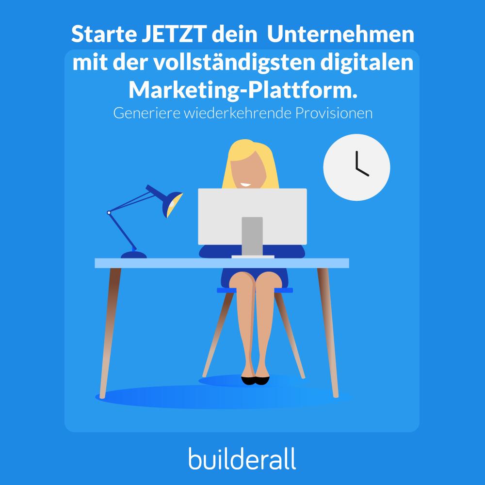 Mein 8. Tag Erfahrung mit der online marketing Platform myBuilderall4you.ch