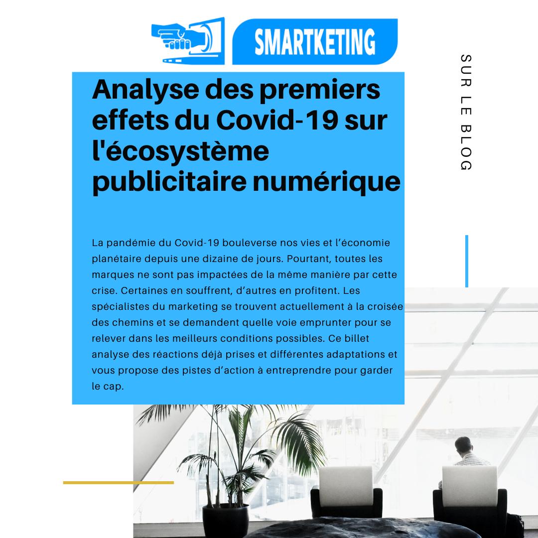 Analyse des premiers effets du Covid-19 sur l'écosystème publicitaire numérique