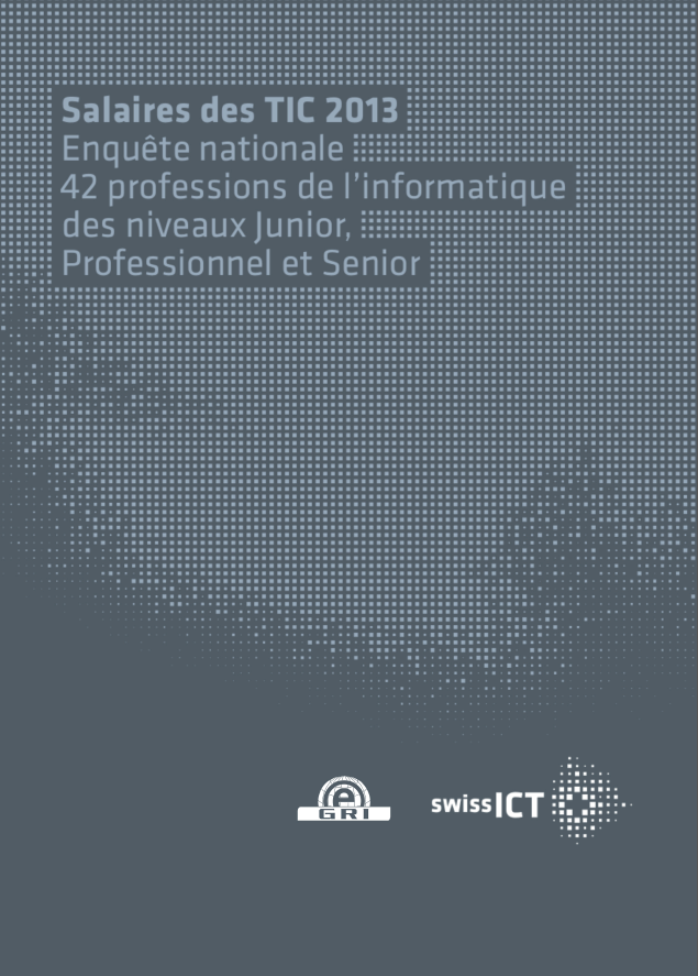 Parution de l'édition 2013 de l'enquête suisse sur les salaires dans le secteur informatique