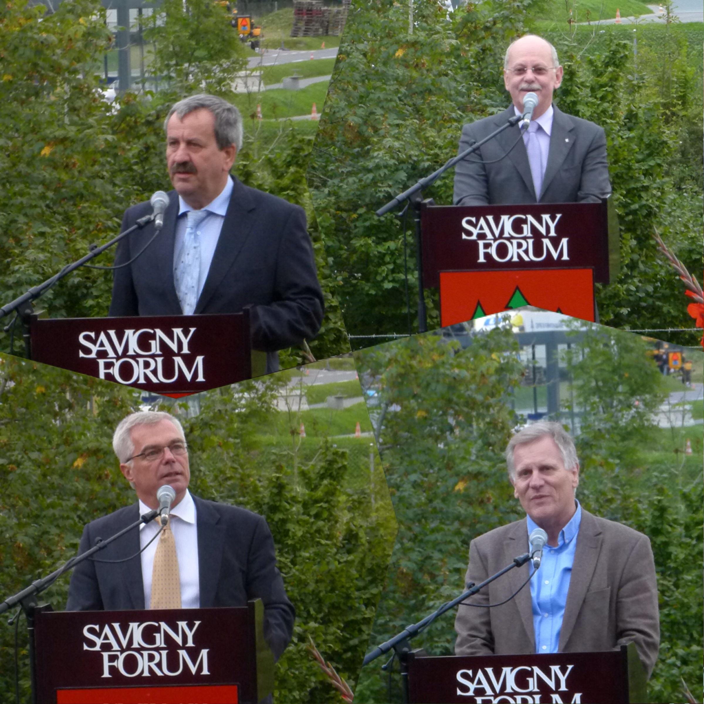 es différents orateurs de la soirée : Gilbert Regamey, Jean-Philippe Thuillard, Thierry Diserens et Etienne Ruegg