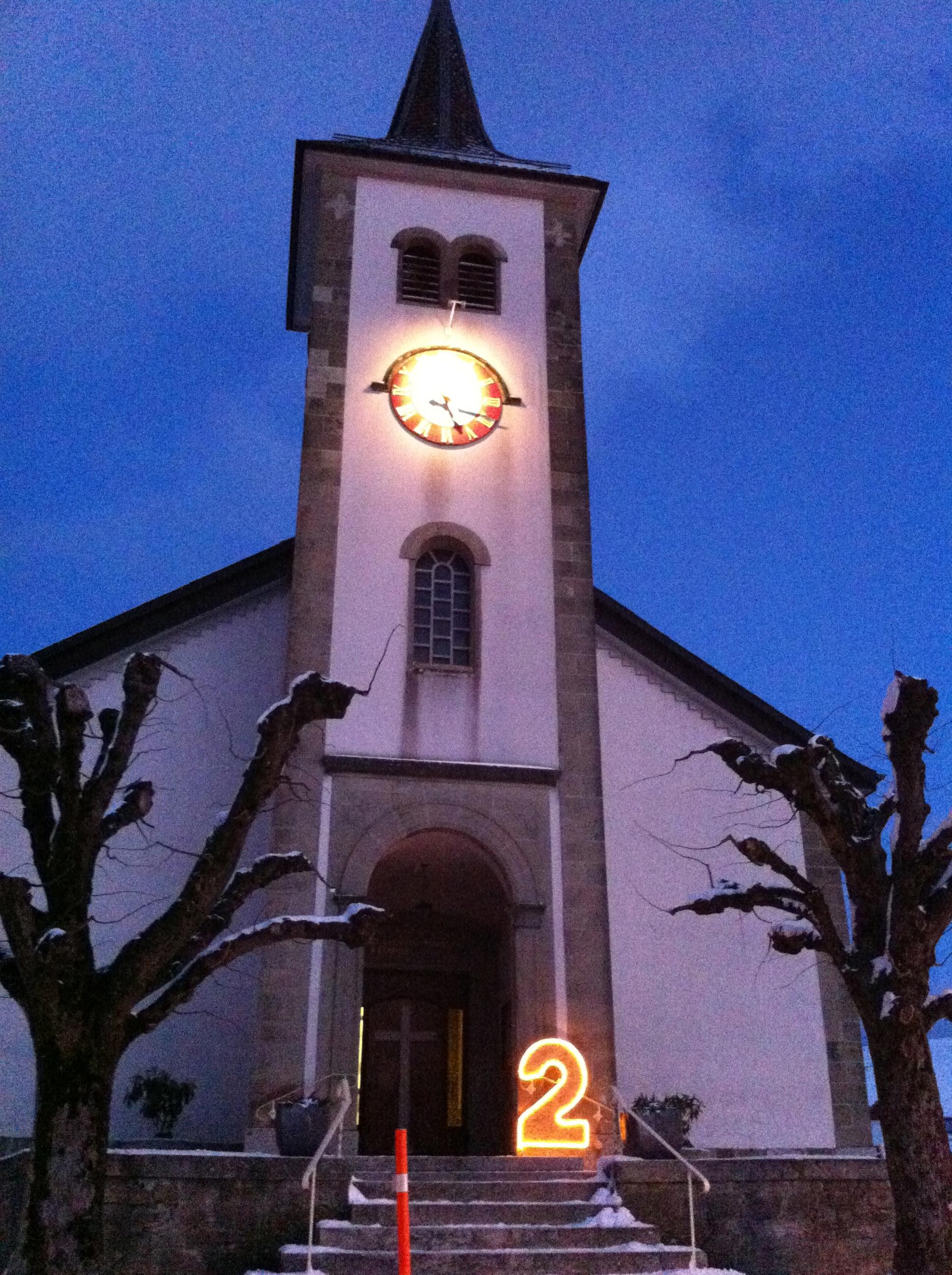 Lancement de la quatrième édition des Fenêtres de l'Avent à Forel (Lavaux)