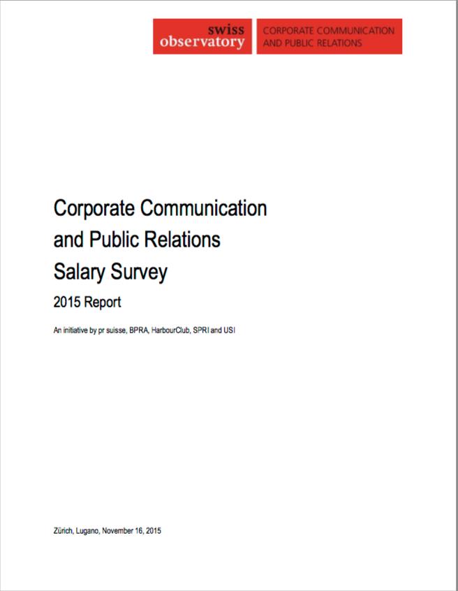Publication de la première enquête suisse des salaires des métiers de la communication