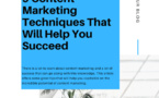 9 Content Marketing Techniques That Will Help You Succeed